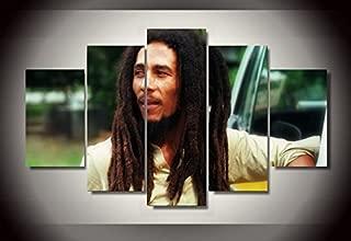 Bob Marley print canvas decoration 5 pieces