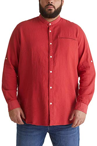 ESPRIT Herren 050EE2F319 Hemd, 639/ORANGE RED 5, 5XL