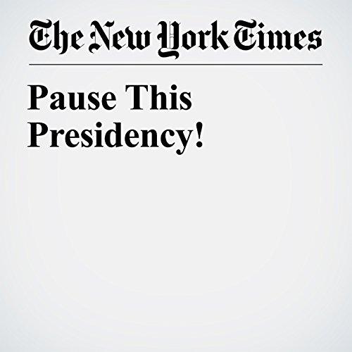 Pause This Presidency! copertina