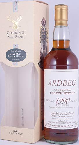 Ardbeg 1990 13 Years Islay Single Malt Scotch Whisky Single Sherry Cask No. 3133 exclusiv von Gordon and MacPhail für Symposion International AB in Schweden - eine von 403 Flaschen und absolute Rarität!