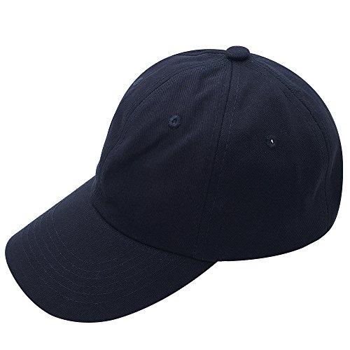 Gorra de béisbol ajustable, con hebilla de metal, 100% algodón, estilo polo y perfil bajo