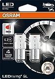 OSRAM LEDriving® SL, ≜ P21 / 5W, rojo, lámparas LED de señalización, solo uso todoterreno, no ECE, blister doble