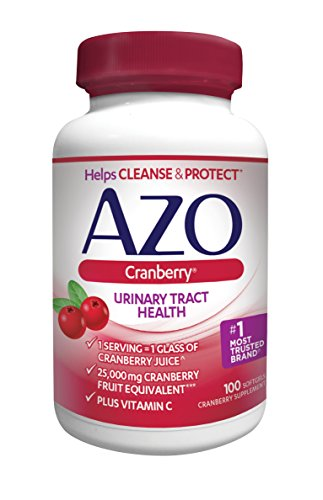 AZO® Cranberry Urinary Tract Health Dietary Supplement | 1 Serving = 1 Glass of Cranberry Juice| Helps cleanse and protect the urinary tract | Fast Acting | 100 Softgels