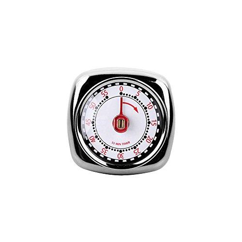 Y-XM Temporizador De Cocina Mecánico Recordatorio De Repostería Contador Regresivo 60 Minutos con Alarma Fuerte Respaldo Magnético No Necesita Batería por Cocina Estudiando El Despertador