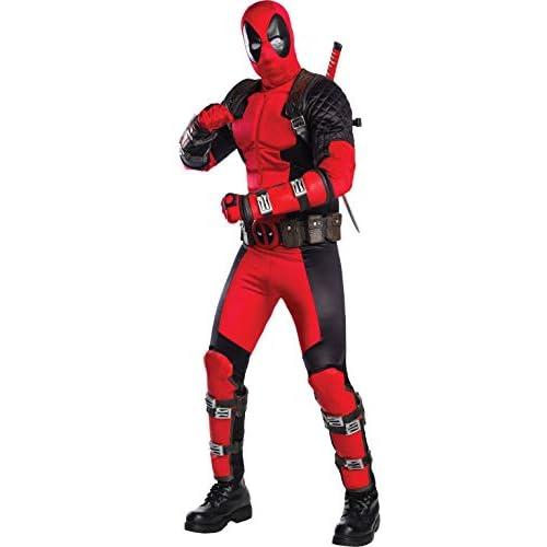 Rubie's 811000STD - Costume da Deadpool, da Uomo, Multicolore