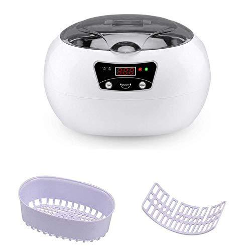 CHTT Baño de Limpiador ultrasónico de 600 ml, Limpiador de sondas de ultrasonido, Adecuado para joyería de Relojes de Relojes Piezas Monedas de Dinero, Gris