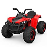 XLAHD Giro in Auto Giocattolo su Quad, ATV per Bambini Alimentato a Batteria da 6 V con velocità Alta/Bassa, Interruttore avanti/Indietro, Mini Auto elettrica per Bambini Piccoli Ragazzi Ragazze