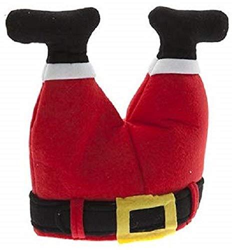 christmasshop novità Natale Cappello da Babbo Natale - Gambe Padre Natale Stuck in Chimney