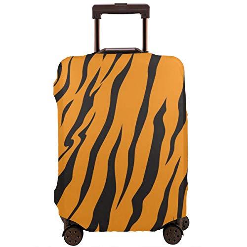 Schutzkoffer Abdeckung Streifen Tiere Dschungel Tiger Fell Textur Muster Reisekoffer Beschützer XL