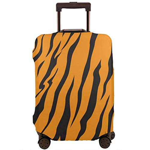 Protective Suitcase Cover Stripe Animals Jungle Tiger Fur Texture Pattern Travel Suitcase Protector XL