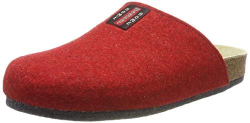Weeger Bio-Hausschuh-Pantoffel Tweed rot Gr. 39