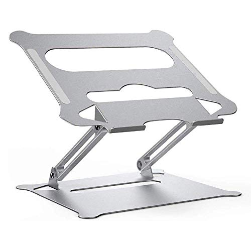 LALB Foldable Notebook Computer Stand, Portable Adjustable Foldable Desktop Computer Stand, Aluminum Alloy Computer Riser Cooling Tablet Stand