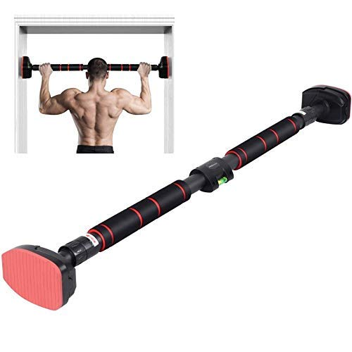 Door Pull-Up Bar-Without Screw Installation Adjustable Width Fitness Bar-with Locking Mechanism,...