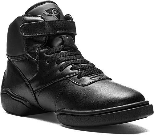 Rumpf 1500 Jazz Street Hip Hop Fitness Sport Tanz High Top Sneaker Farbe Schwarz und weiß, Schwarz, 40.5 EU