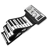 Lychee Portátil 61 Teclas Rueda Teclado Electronico Portátil Flexible Rueda para Arriba de Piano MIDI del Teclado Plegable Electronic Piano Instrumentos Musicales