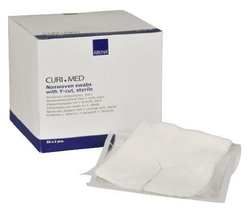 100 Stück Vlies Schlitzkompressen steril 4-lagig Curi-Med 7,5 cm x 7,5 cm weiß