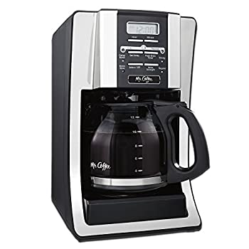 Mr Coffee 12 Cup Programmable Coffee Maker with Thermal Carafe Option Chrome
