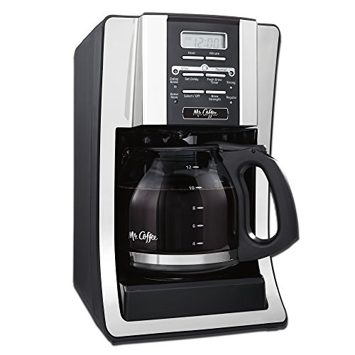 Mr. Coffee 12 Cup Programmable Coffee Maker with Thermal Carafe Option, Chrome