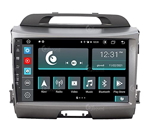 Autoradio Custom Fit per Kia Sportage Android GPS Bluetooth WiFi Dab USB Full HD Touchscreen Display 9' processore 8core e comandi vocali