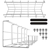 Under Desk Cable Tray - Super Sturdy Cable Organizer for Wire Management. Metal Wire Cable Tray for Office, Studio and Home (White Cord Basket Set of 2x 16''). Standing Desk Cable Management Basket