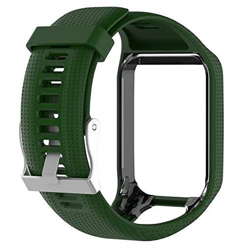 Pulseira de Silicone Tom Tom Verde Adulto Para Relógio TomtomRunner 2/3 / Spark/Adventurer/Golfer/Cardio