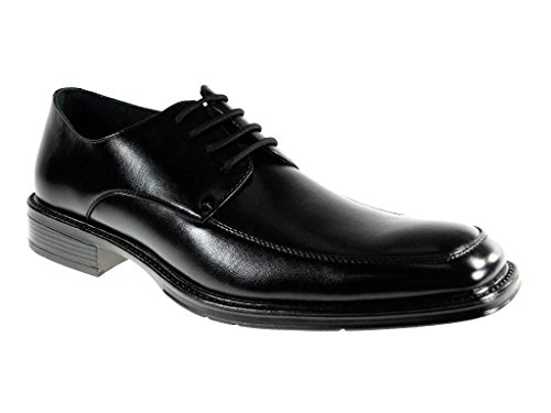 Delli Aldo Men's 16011-Black Classic Square Toe Oxfords, Black, 7.5
