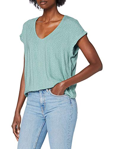 TOM TAILOR Denim Damen Sporty Bluse, 24323-mint White dot, XL