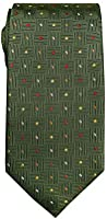 Remo Sartori - Cravatta in Seta a Pois Multicolor su Fondo Verdone, Made in Italy, Uomo