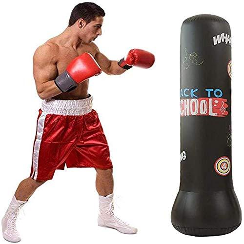 WeiX Saco de Boxeo Inflable,Sacos de Boxeo, Inflable, Independiente, para Ejercicios, Soporte para Objetivos, Torre, para Adultos y niños, Entrenamiento de Boxeo, 160 cm