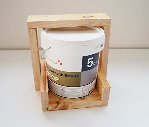 Revestimiento Elástico Impermeabilizante Stop · Pintura para Impermeabilizar parámetros horizontales en Terrazas, Azoteas, Balcones y Tejados · Color Gris · 5KG (4,2 L) · Promoción Especial B