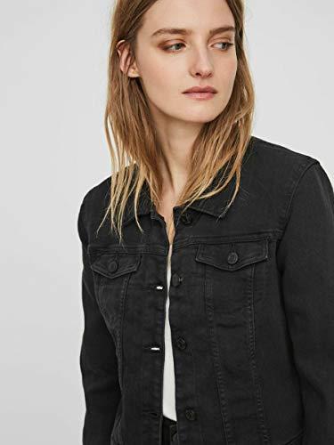 NAME IT Nmdebra L/s Wash Denim Jacket Noos Chaqueta Vaquera, Negro (Black Black), 40 (Talla del Fabricante: Medium) para Mujer