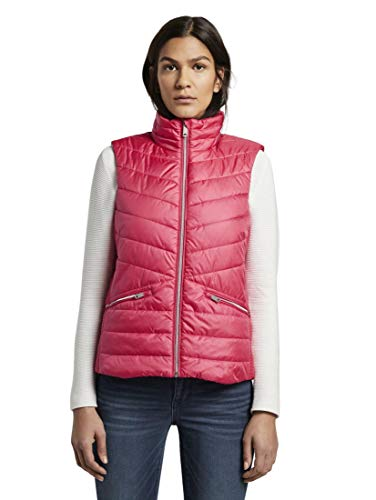 TOM TAILOR Damen Jacken Leichte Gesteppte Weste Blushing pink,XL