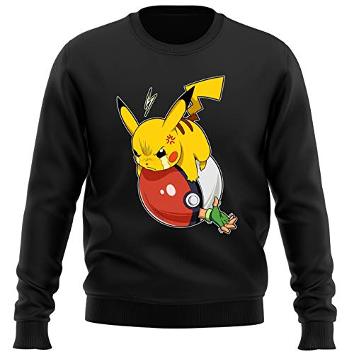 OKIWOKI trui zwart Pokémon Parodieën Pikachu en Sasha : Vengeance: (Parodie Pokémon)