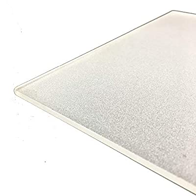 235mm x 235mm x 4mm Frosted Borosilicate Glass Plate/Bed for 3D Printer, Perfectly Flat Glass With Polished Edges