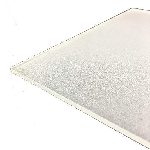 Placa de vidrio de borosilicato esmerilado de 235 mm x 235 mm x 4 mm para impresora 3D, cristal perfectamente plano con bordes pulidos.