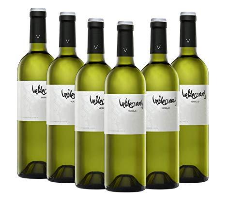 Añada Valdecuevas Verdejo, Caja de 6, Vino Blanco, 750 ml x6 D.O RUEDA 6 botellas