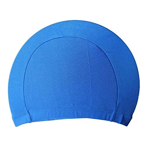 Lorjoy Unisex Tela de poliéster Tela Casquillo de baño de natación Sombreros para Deportes acuáticos