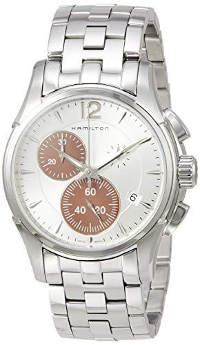 Reloj Hamilton Jazzmaster Chrono Cuarzo Acero Esfera Plateada H3261215