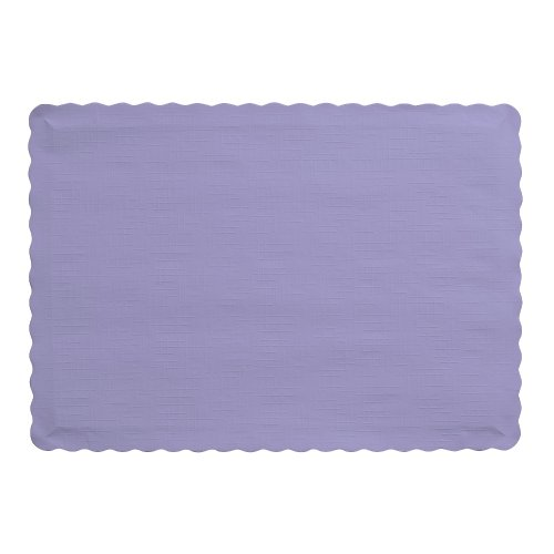 Creative Converting 50 Count Touch of Color Paper Placemats, Luscious Lavender