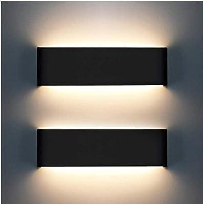 Applique d'intérieur, 2 downlights 12W 3000K style moderne, très approprié pour chambre à coucher, salon, couloir, couloir, escalier, blanc chaud [A-level energy ++]