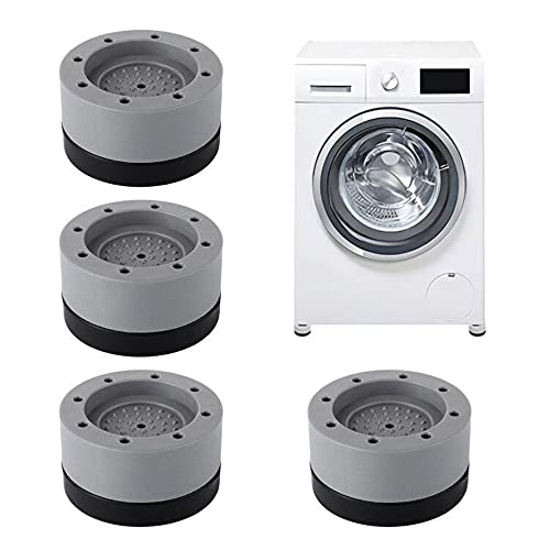 Quazilli 4 Stück Vibrationsdämpfer, Schwingungsdämpfer Waschmaschine, Antivibrationsmatte, Waschmaschinenunterlage, Antirutschmatte Waschmaschine
