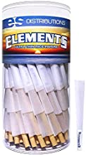 Elements Cones 1 1/4 Size | 150 Pack | Natural Pre Rolled Rice Rolling Paper with Tips and Packing Sticks Included