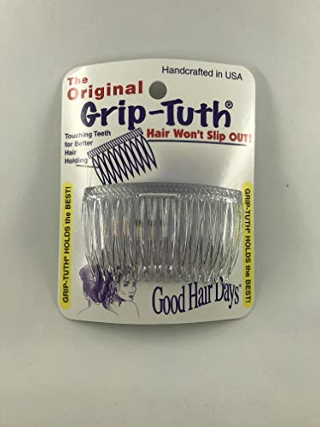 ブレス基準シャツGood Hair Days Grip Tuth Combs 40414 Set of 2, Clear 2 3/4
