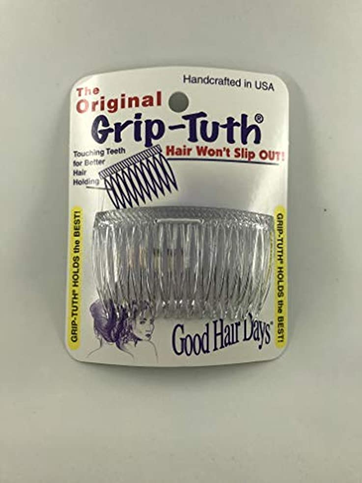 スケジュール揃える解決するGood Hair Days Grip Tuth Combs 40414 Set of 2, Clear 2 3/4