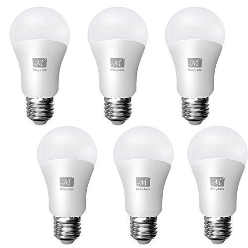 MayJazz 6Pack A19 6W=40W Equivalent Saver Energy LED Light Bulbs,2700K Soft White E26 Medium Screw Base Bulb