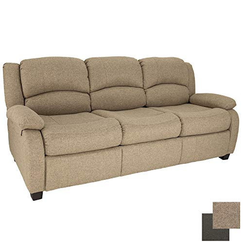 RecPro 80' RV Hide A Bed Loveseat | RV Sleeper Sofa | Cloth | Memory Foam Mattress | Pull Out Couch | RV Furniture | RV Loveseat | RV Living Room (Slideout) Furniture (Oatmeal)