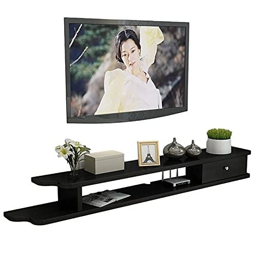 Mobile TV, Tv Lowboard, Scaffali galleggianti, Scaffale per componenti del supporto TV galleggiante, Bianco nero Brown Colori multipli da scegliere, consolle multimediali a parete facile da assemblare