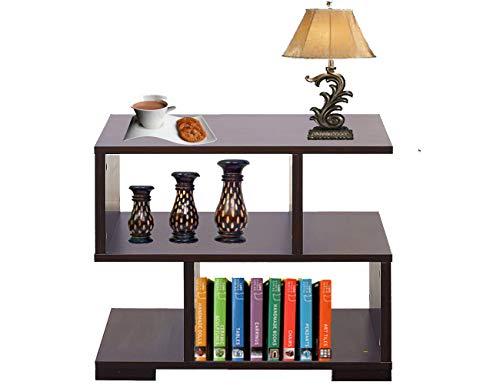 AAROORA Bedside Multipurpose Storage Wood End Table