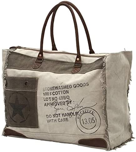 Myra Bags 13 05 Received Upcycled Canvas Weekender Bag S 0775 product image