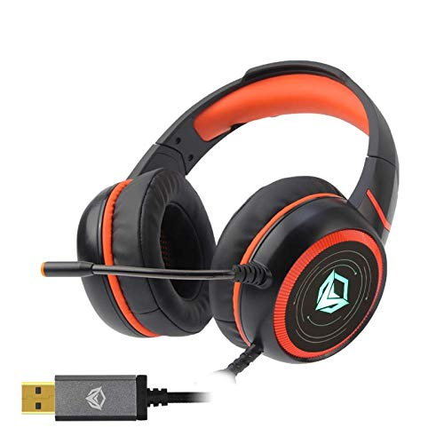MeeTion HP030 7.1 Backlight Stereo Gaming Headset, Noise Reducing Comfortable Earmuffs, Adjustable Leather Headband, Easy Volume Control, Perfect for PC, Laptop, PS4, Xbox One & Nintendo Switch Categories
